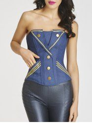 SHARE & Get it FREE | Embroidered Trim Steel Boned Denim CorsetFor Fashion Lovers only:80,000+ Items • New Arrivals Daily • Affordable Casual to Chic for Every Occasion Join Sammydress: Get YOUR $50 NOW!