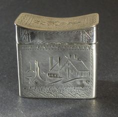 Antique  Hand -made Sterling Silver Snuff Box, Shop Rubylane.com