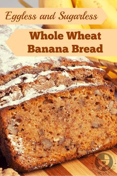Banana bread is a great way to use overripe bananas. Skip the white flour and sugar and make this healthier eggless whole wheat banana bread recipe with jaggery.
