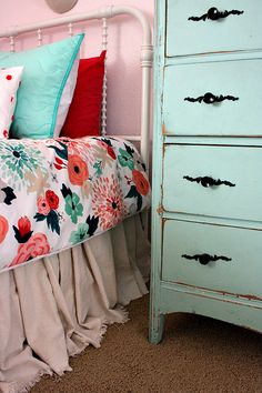 adorable budget-friendly shared girl's room makeover