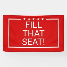 Trump 2020 Fill that Seat Pro-Life Fill the Seat Banner