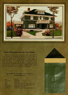 Paint Protection for the City Home from STYLE PORTFOLIO OF HOME DECORATION from Sherwin Williams Co. (1910).