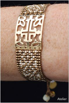 Bracelet in Gold with Bronze Beads by Atelier Home & Garden (UK)