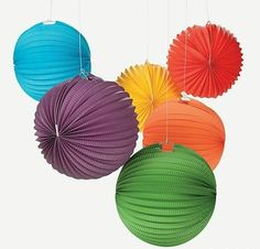 Solid Color Paper Lanterns | 6ct for $7.50 in Party Themes