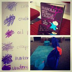 Harold purple crayon writing activity esl
