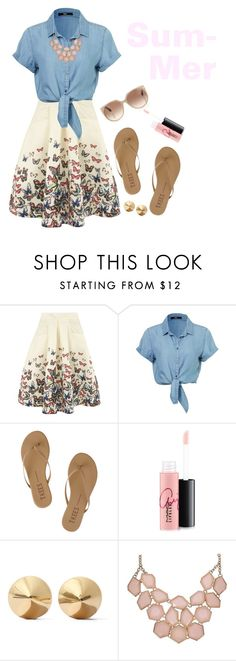 """""""Summer!"""" by polygirl06 ❤ liked on Polyvore featuring moda, Jolie Moi, Tkees, MAC Cosmetics, Eddie Borgo, Tom Ford, women's clothing, women, female e woman"""