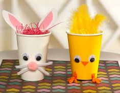 These cup crafts would be good...not much coloring, but gluing and filling the cup could be parts of the craft our less motor-capable friends could do.