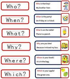 questions words in english ile ilgili görsel sonucu Learning English For Kids, Teaching English Grammar, Kids English, English Tips, English Language Learning, English Vocabulary Words, Learn English Words, English Writing, English Study