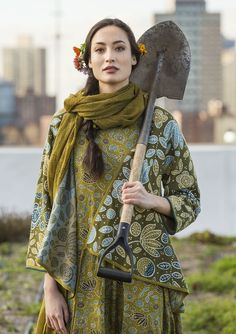 Green on a roof in Brooklyn – GUDRUN SJÖDÉN – Webshop, mail order and boutiques   Colorful clothes and home textiles in natural materials.
