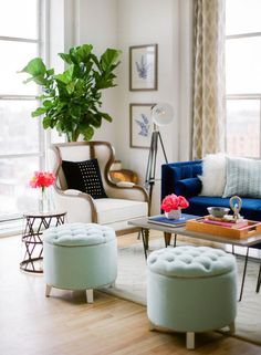 Create an inviting, modern living room with design tips from Sarah Hubbell of Emma Magazine. We've got the scoop on all the product details for this stylish loft!