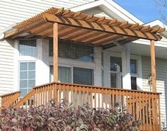 Pergola over porch