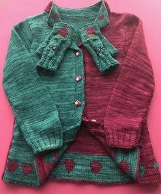 Doubleface Herzchenbündchen Jacke mit Handstulpen
