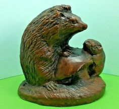 Priory Castings Mother Hedgehog and baby Figures In Resin Wildlife Ref: 730 Hedgehog Cage, Cute Hedgehog, Character Modeling, Mammals, Resin, Lion Sculpture, Wildlife, It Cast, Statue