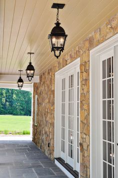 Indian Springs Carriage House Porch and Breezeway traditional porch...pavers