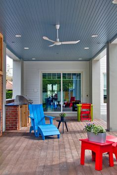 Vision House Orlando's Back Patio with Barn Ceiling Fan Equine  by LOLren, via Flickr