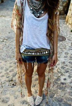 Stylish bohemian boho chic outfits style ideas ღ Stylish outfit ideas for women who follow fashion.
