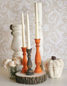 Thanksgiving Home Decor Fall Harvest Candle Stick