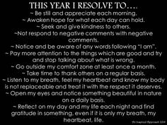 This Year I Resolve To...