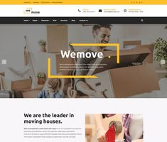 WeMove - ModelTheme Moving House, Website Themes, Page Layout, Wordpress Theme, Modern Design, Typography, The Incredibles, How To Plan, Home