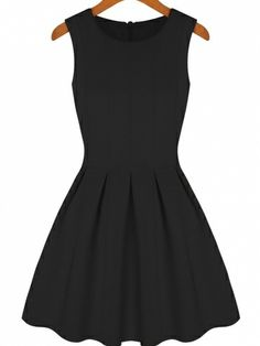 New Arrival Round Collar Zippered Back Off Shoulder Solid Collar Pleated Hem Sheath Mini Dress on buytrends.com