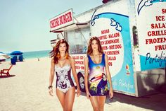 Fierce tiger bathing suit and toucan dress