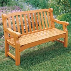 Create your own yard or garden bench with this woodworking plan.