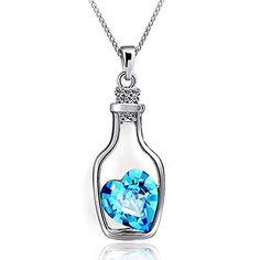 """Damen Halskette """"Herz in Flasche"""" blaues Herz Kristall - ... https://www.amazon.de/dp/B06XGHH9LT/ref=cm_sw_r_pi_dp_x_dLTVyb2H44D1T"""