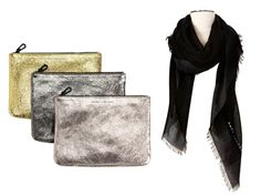 EXCLUSIVE PREVIEW: Target + Neiman Marcus #Holiday Collection 2012 #MarcJacobs Pouches, $70 each; scarf, $70. #TargetNM