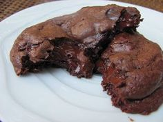 Skinny Gooey Double Chocolate Cookies