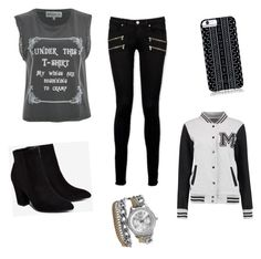 """""""Black and White"""" by zadzbrown ❤ liked on Polyvore featuring Paige Denim, Billini, Savannah Hayes, BKE and Wildfox"""