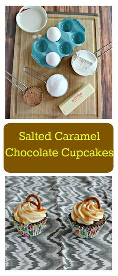 Need a fun holiday dessert? You'll love these sweet and salty Salted Caramel Chocolate Cupcakes for dessert!  #SundaySupper