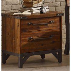 Ink+Ivy Lancaster Vintage Industrial Nightstand - RC Willey Home Frunishings