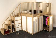 Doppelbett / modern / Holz / integrierter Stauraum IMPERO Cinius