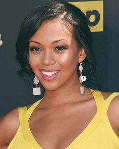 MARRIN COSTELLO JEWELRY // Celebrity Actress Mishael Morgan // Hanging Stone Earrings // Custom // #DONTFORGETTOACCESSORIZE