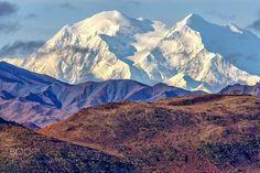 The High One - Denali highest peak in North America 20310 feet (6190 m). Denali National Park Alaska