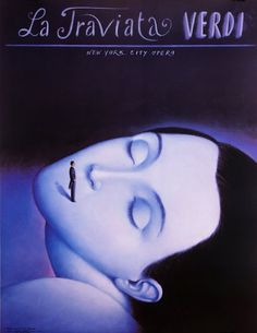 By Rafal Olbinski, 1992, La Traviata, Giuseppe Verdi.
