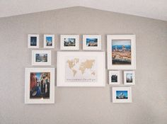 Travel gallery wall featuring gold glitter world map home is travel gallery wall featuring gold glitter world map home is wherever im with gumiabroncs Gallery