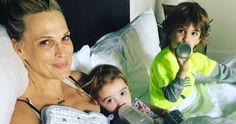 Molly Sims Shares Photo of New Life with Three Kids: 'Our Bed Got a Little More Crowded' Molly Sims, Hospital Birth, Baby Baskets, After Giving Birth, Third Baby, Baby Arrival, Healthy Meals For Kids, Three Kids, What Is Life About