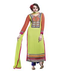 Buy Lilots Green Cotton Dress Material by Lilots, on Paytm, Price: Rs.2335?utm_medium=pintrest