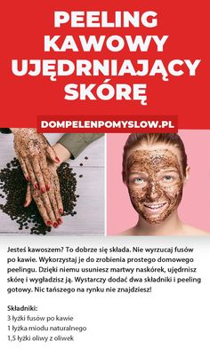 Peeling z fusów po kawie, który ujędrni skórę Baking Soda Benefits, Homemade Tables, Baking Soda Face, Homemade Mask, Home Remedies For Acne, Natural Solutions, Natural Cosmetics, Skin Problems, Face And Body