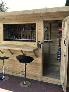 All buildings are supplied sectional enabling ease of construction for the general DIY market ( if required. Outdoor Garden Bar, Garden Bar Shed, Diy Outdoor Bar, Backyard Bar, Backyard Kitchen, Backyard Patio Designs, Pool Bar, Man Shed Bar, Pub Sheds