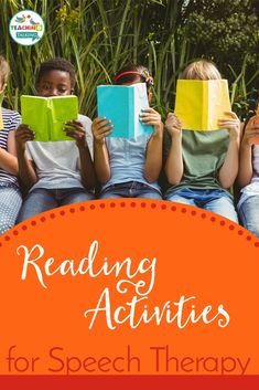 Speech therapy reading activities - advice to pass on to parents and ideas for games and challenges your children can do at home, to help develop their language skills. Reading with younger children, helping with fluency in older readers and games that can help with comprehension.