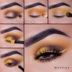 "(@motivescosmetics) on Instagram: ""Brighten up your eye look this spring with a pop of yellow. See how @elymarino gets this sexy…"""