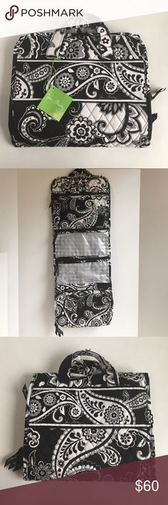 Vera Bradley Hanging Organizer Midnight Paisley Rare, retired Midnight Paisley Pattern! This hanging Travel organizer is ideal for slipping your travel must-haves into your suitcase or hanging it near the vanity.