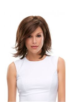 Rosie Lace Front Wig This layered wig features a bob-style with layers upon layers and a lace front hairline. The side-swept fringe bang is loaded with longer-layers, and the monotop offers versatile styling options and loads of comfort. Medium Hair Styles For Women, Medium Hair Cuts, Short Hair Cuts, Medium Length Hair With Layers And Side Bangs, Medium Bob With Bangs, Shoulder Length Layered Hair, Medium Short Hair, Corte Y Color, Great Hair
