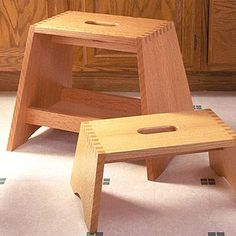 Step-stool with box joints free woodworking plan Step-Stool with . & Simple 1x10 Single Step Stool (Ana White) | Ana white Wood steps ... islam-shia.org