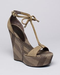 Burberry Platform Wedge Sandals - Lingards | Bloomingdale's