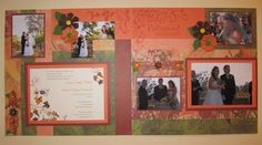 Fall color wedding layout - CTMH