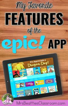 The Epic! reading app is your best option for online books for reading or listening centers. This FREE app for classrooms contains at least top-quality books and audiobooks with many favorite titles, series and beloved characters to choose from. Reading Resources, Reading Strategies, Reading Activities, Reading Games, Reading Lessons, Kids Reading, Teaching Reading, Guided Reading, Reading Books