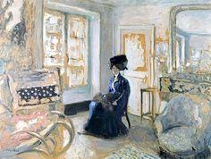 Model in a Blue Dress - Édouard Vuillard - (French: 1868-1940)